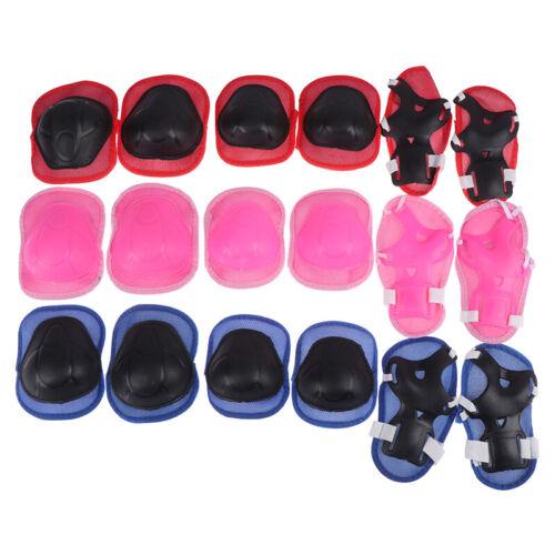 6x//Set Kinder Knie Ellenbogenschützer Sets Fahrrad Skateboard Handgelenk  CLHLMD
