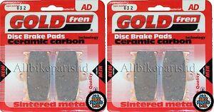 ZX 600 F3 1997 /> SINTERED FRONT BRAKE PADS KAWASAKI ZX-6R 2 pair *GOLDFREN*