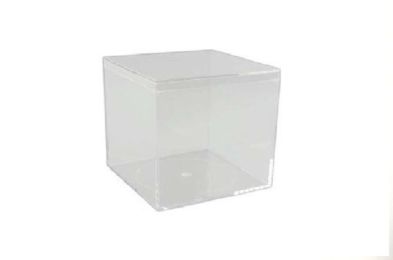 Easy Assemble Luxury Cube Presentation Favour Cake Boxes 6cm 60mm Square Clear