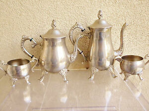 Image is loading Vintage-Tea-Coffee-Set-marked-039-039-EP- & Vintage Tea/ Coffee Set marked u0027u0027EP BRASSu0027u0027/ Silver Plated on Brass ...