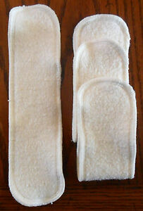 Cloth Diaper Inserts Hemp Organic Cotton Fleece 3 x 11 (Natural Trim)