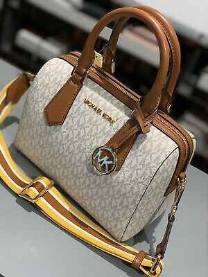 Michael Kors Womens Small Crossbody Leather Bag Satchel Handbag Purse Vanilla 192877733034 | eBay