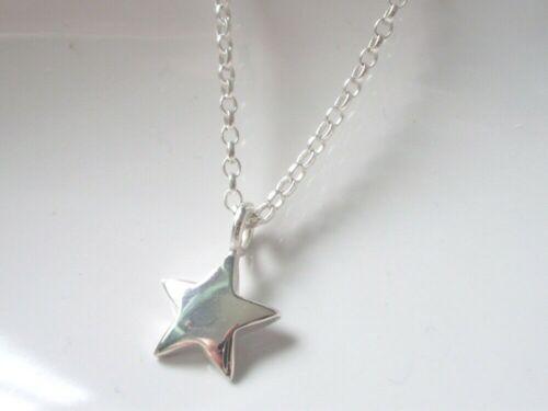 delicada cadena de Belcher encanto Estrella Regalo para Mujer Collar Colgante de plata esterlina