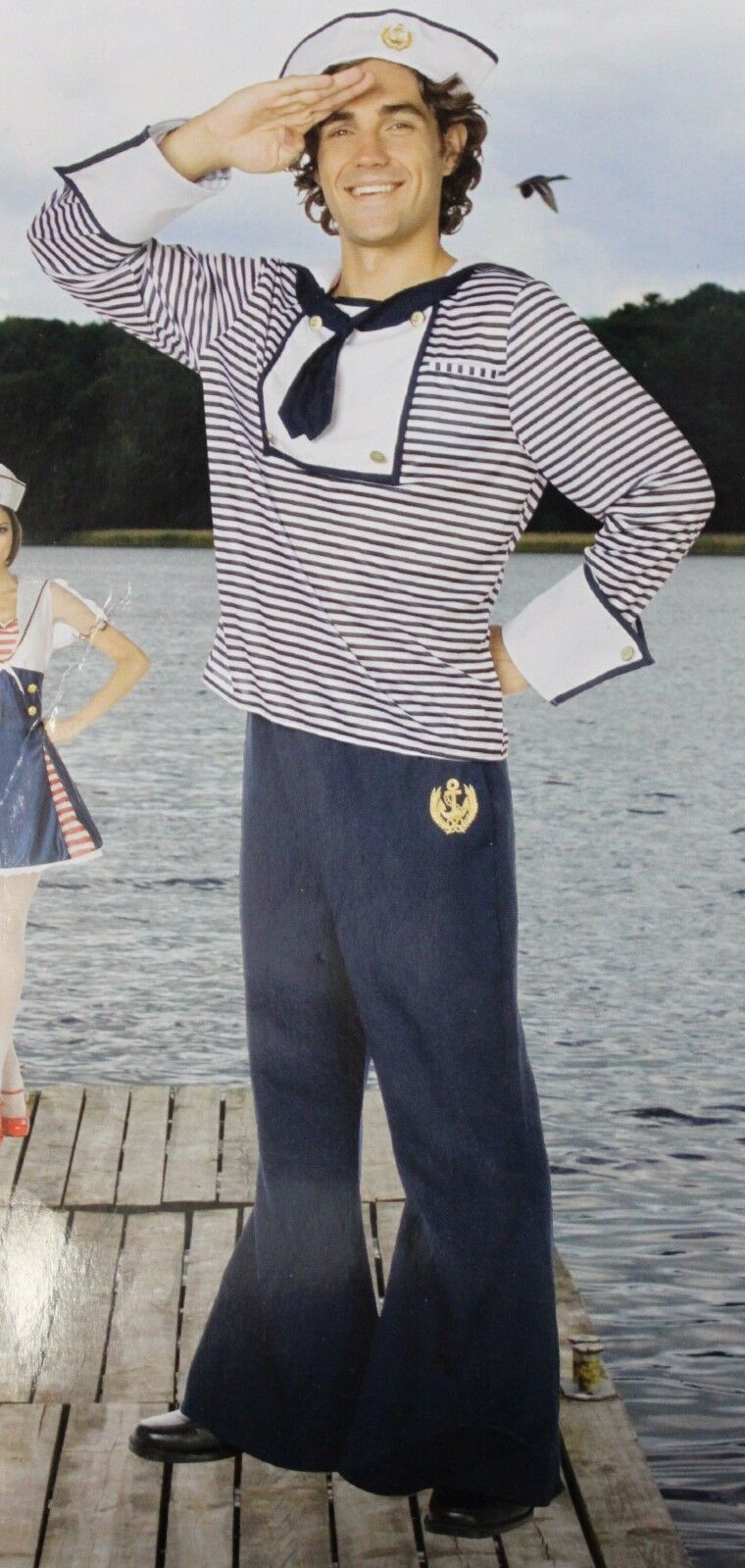 MatRosa Kostüm Kostüm Kostüm Erwachsene Herren XL XL Marineblau Kostüm Yeoman Seemann Neu   Verwendet in der Haltbarkeit    Online Shop    Großer Verkauf  69a025