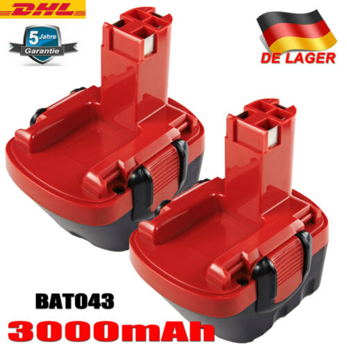 2x 3000mAh 12V Ni-MH Akku Für Bosch BAT043,BAT045,PSR 1200,PSR 12-2,PAG VE-2,GSB