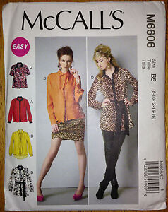 BOHO-Blouse-Top-Sewing-Pattern-Tunic-Tie-M6606-Size-8-16-by-McCalls