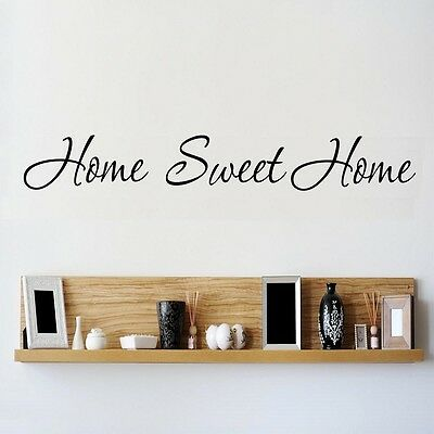 Wall Quote HOME SWEET HOME Wall Stickers Home Vinyl Decal Art NR2