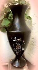 ✿ zauberhafte chinesische bakelit vase mit perlmutt um 1910