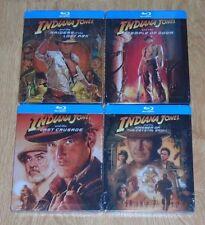 Indiana Jones collection (4 Blu-rays) steelbooks. NEW & SEALED. UK release.