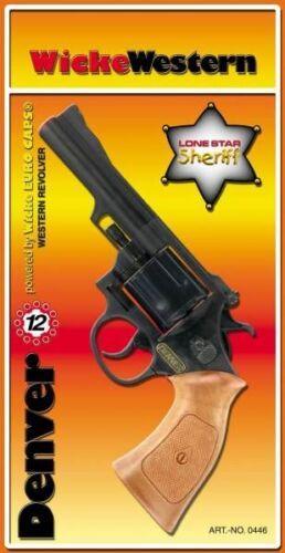 Western rivoltella Denver 12 Comitato-Anelli Western carnevale giocattolo-pistola veccia