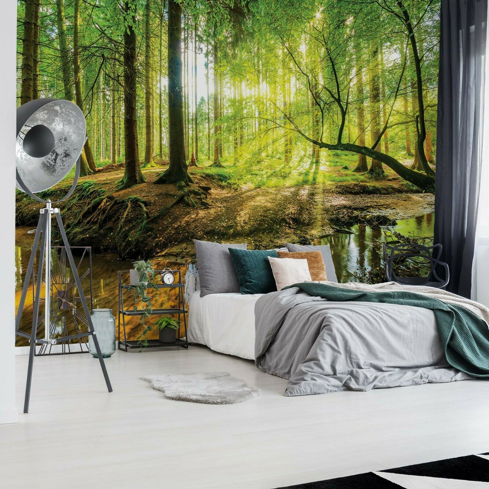 315x232cm Giant wall mural photo wallpaper Autumn forest road