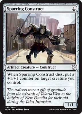 DOM 4x MTG: Sparring Construct Common Artifact Dominaria Magic Card