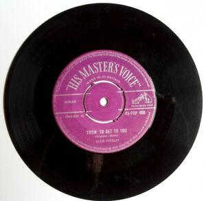 ELVIS-PRESLEY-LAWDY-MISS-CLAWDY-TRYING-TO-GET-TO-YOU-7-034-Vinyl-HMV-45-POP-408