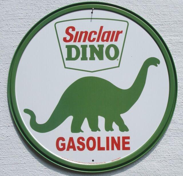 Sinclair Gasoline USA Tankstellen Dino Logo Metall Benzin Werbung Schild