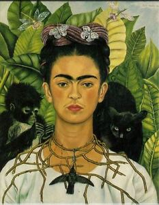 Frida-Kahlo-Classic-Oil-Painting-on-Canvas-Mexican-artist-Self-Portrait-24x30-034