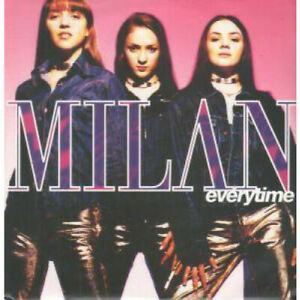 MILAN-Everytime-12-034-MAXI-VINYL-UK-Polydor-4-Track-With-Insert-Featuring