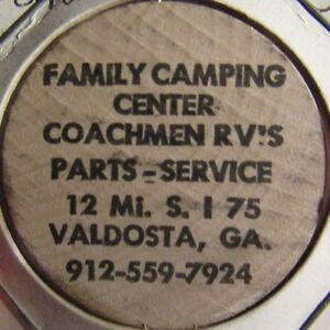 Details About Vintage Coachmen Rvs Camping Center Valdosta Ga Wooden Nickel Token Georgia