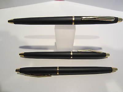 Lot of 3 TERZETTI  Model SLIM BLACK// GOLD TRIM BALLPOINT PENS-Ideal Slim Pen