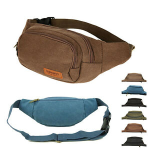 Men-039-s-Small-Canvas-Waist-Bag-Multifunction-Phone-Purses-Outdoor-Sport-Fanny-Kit