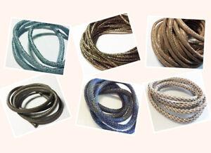 6mm-1m-Oko-Leder-Lederband-Imitat-Textilband-metallic-Reptil