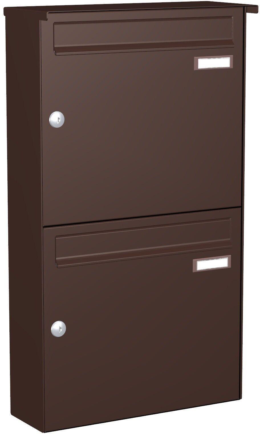 Doppel-Briefkasten Aufputz 2 er 2x Postkasten Wand Wand Wand Farbauswahl oder VA APH111 55ec96