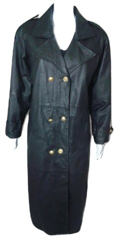 Atlantic Beach Leather Works Trench Coat Womens Si