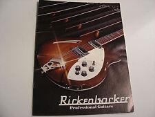 Vintage 1975 Rickenbacker Catalog Guitars & Basses 360 4001 330 Doubleneck