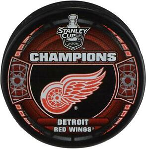 Detroit Red Wings Unsigned 2008 Stanley Cup Champs Logo Hockey Puck - Fanatics