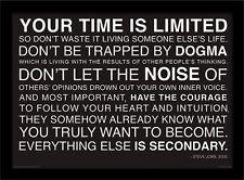Il tuo tempo è limitata Steve Jobs-incorniciato 30 x 40 Stampa Ufficiale