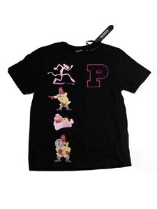 Men-Hudson-100-authentic-short-sleeve-t-shirt-size-large-black-pink-panther