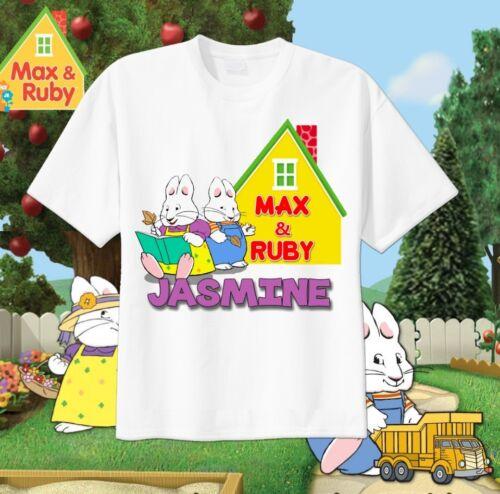 Max and Ruby Custom T-shirt Personalize tshirt Birthday gift Add Name Tv Show