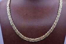 Technibond Byzantine Chain Necklace Senora 14K Yellow Gold Clad Silver 925