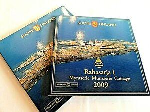 BEAU COFFRET OFFICIEL BU FINLANDE 2009 / 8 PIECES + UNE MEDAILLE