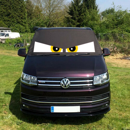 VW Transporter T6 Window Screen Curtain Cover Wrap Frost Blinds Eyes Yellow