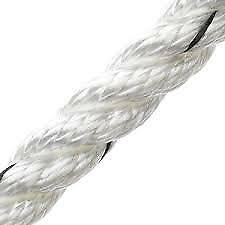 Marlow 3 Strand Polyester Rope - White 10M
