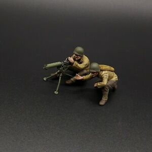 Peint-1-35-ww2-US-Army-Ranger-Machine-Gun-Team-Munitions-Ceinture-manquant-Masterbox
