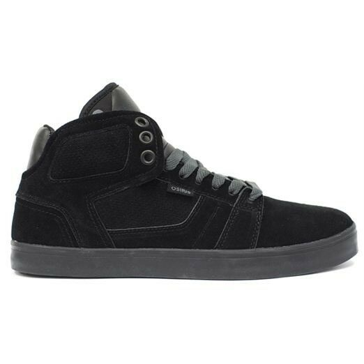 05ac7c00a0 Osiris Shoes Effect Black Suede 90's NYC Style Slim Hi Top Trainers UK 8  EUR 42 for sale online | eBay
