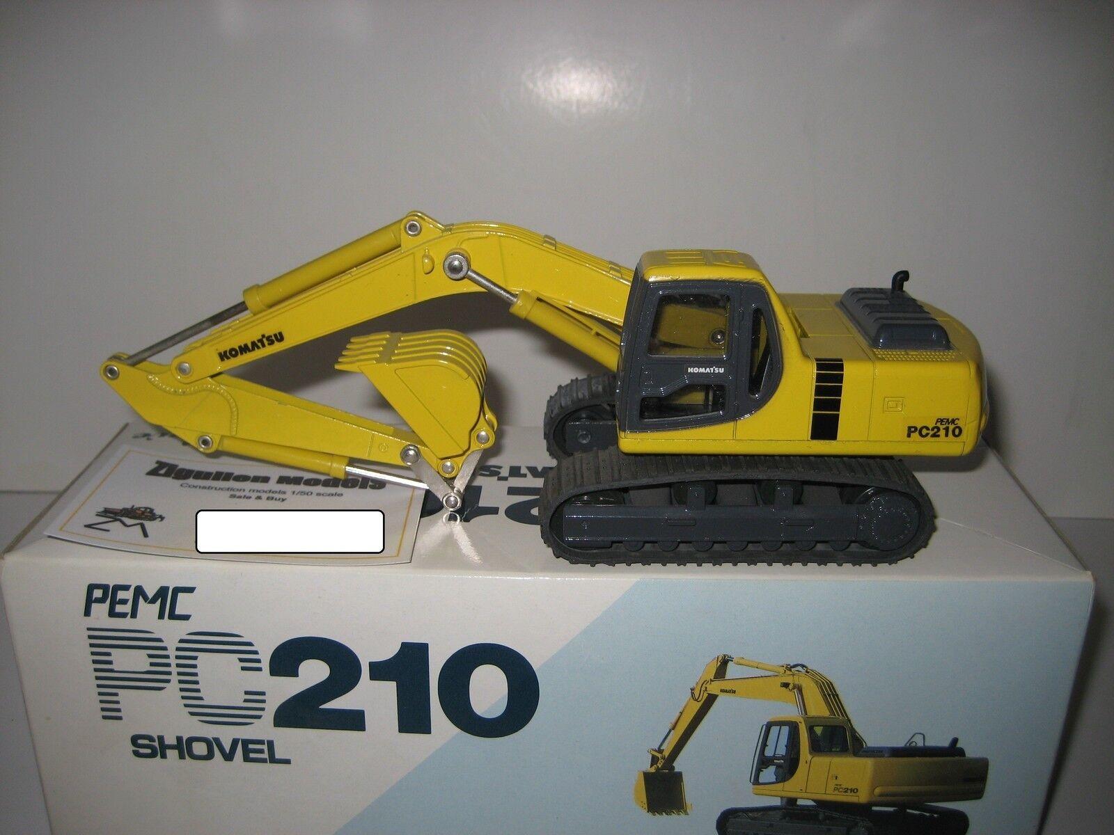 KOMATSU PC 210 Excavateurs tieflöffel à chenilles SHINSEI 1:43 neuf dans sa boîte | Prix D'aubaine