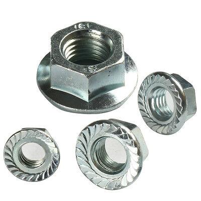 1//4 Inch x 20 Flanged Lock Nut ZP 10 QTY