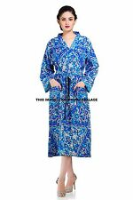 Indian Star Mandala Cotton Kimono Bath Robe Women Clothing Intimates Nightgown