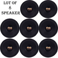 Lot Of 8 Pyramid W64 Woofers 6.5 400w Midbass Poly Woofer Midrange Speakers on sale