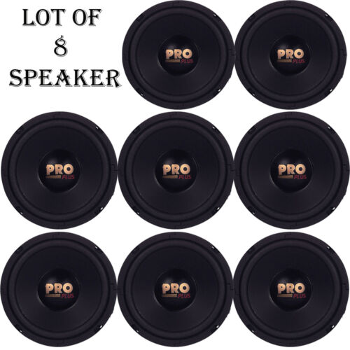 "Lot of 8 Pyramid W64 Woofers 6.5/"" 200W MidBass Poly Woofer Midrange Speakers"