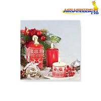 20 Paper Lunch Napkins CHRISTMAS Winter Red Candles Decoupage Craft // 550047