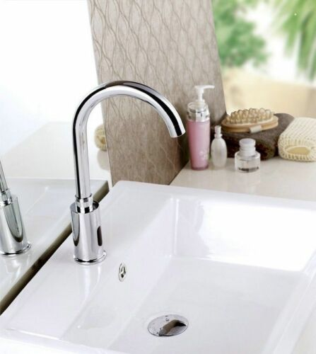 Automatic Sensor Hands Free Touchless Bathroom Kitchen Faucet Mixer Swivel Tap