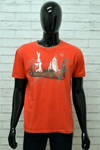 DIESEL-Uomo-Maglia-Taglia-Size-XL-Polo-Maglietta-Manica-Corta-Shirt-Man-Cotone