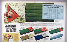 Sleeping Bags 2-Page PRINT AD - 1969 ~~ official Boy Scouts of America