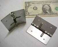 12 Spring Close Hinges, Cabinet Hardware 2-3/4 Compartment Door Cover Latch