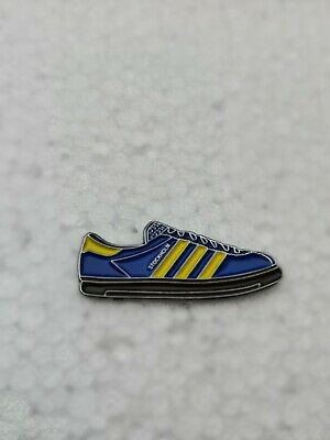 Adidas Stockholm Trainer Pin Badge Casual Ultras Away Days 3 Stripes Sneakers | eBay