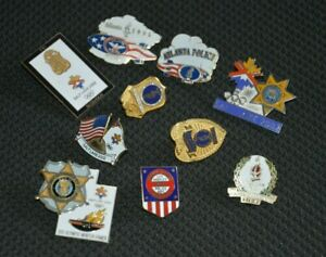 Qty-USA-Enamel-Police-Olympic-Games-Lapel-Badges