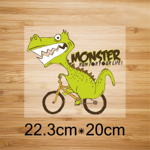 dinosaur iron on patches heat transfer pyrography for diy clothing decor FH